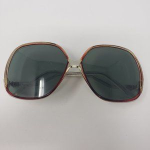 Vintage Oversized Butterfly Red Clear Sunglasses